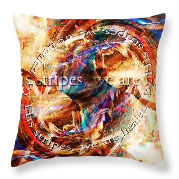 Good Friday Throw Pillow by Margie Chapman