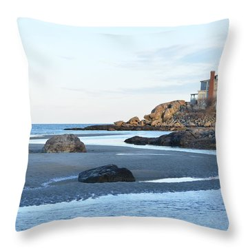 Good Harbor Beach Throw Pillow