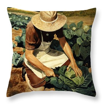 Good Harvest Throw Pillow
