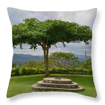 Good Hope Estate Lawn Jamaica Throw Pillow