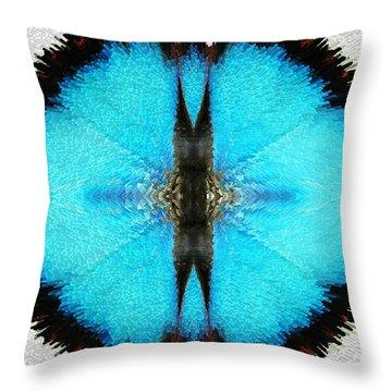 Good Karma - Art By Sharon Cummings Throw Pillow by Sharon Cummings