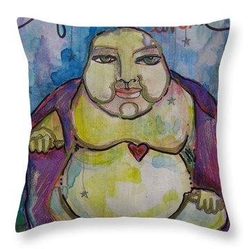 Good Luck Buddha Throw Pillow