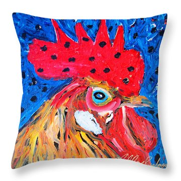 Good Luck Rooster Throw Pillow