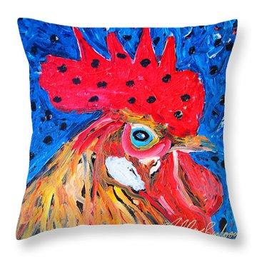 Good Luck Rooster Throw Pillow