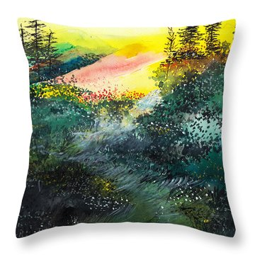 Good Morning 3 Throw Pillow by Anil Nene
