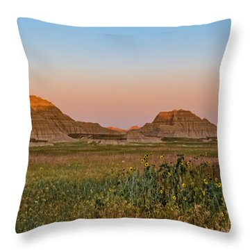 Good Morning Badlands II Throw Pillow by Patti Deters