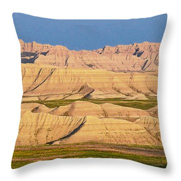 Good Morning Badlands I Throw Pillow by Patti Deters