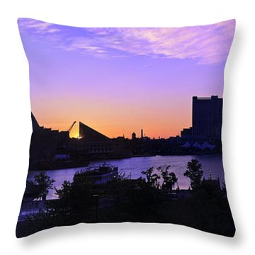 Good Morning Baltimore Throw Pillow by Marianne Campolongo