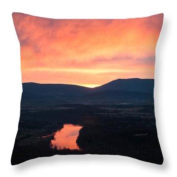 Good Morning Blue Ridge Throw Pillow
