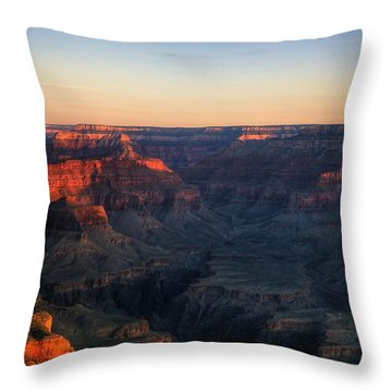 Good Morning Throw Pillow by Dave Files