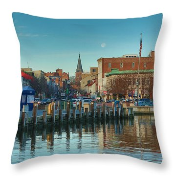 Good Morning Downtown Throw Pillow by Jennifer Casey