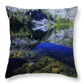 Good Morning Eagle Lake Throw Pillow