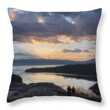 Good Morning Emerald Bay Throw Pillow