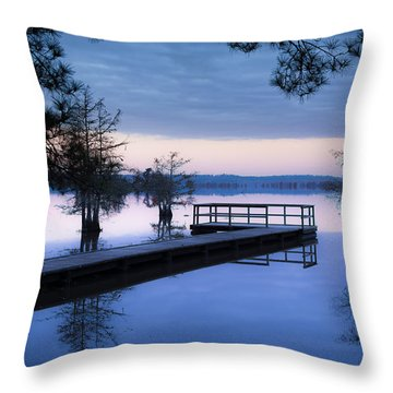 Good Morning For Fishing Throw Pillow