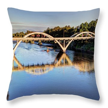 Good Morning Grants Pass II Throw Pillow by Heidi Smith