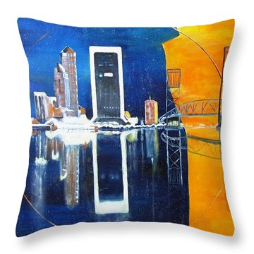 Good Morning Jacksonville Throw Pillow by Gary Smith