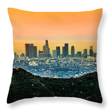 Good Morning La Throw Pillow
