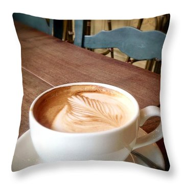 Good Morning Latte Throw Pillow