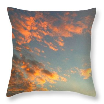 Good Morning Throw Pillow by Linda Bailey