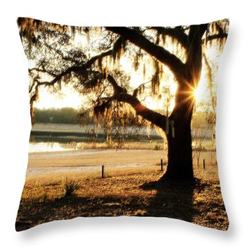 Good Morning Mossy Oak Throw Pillow