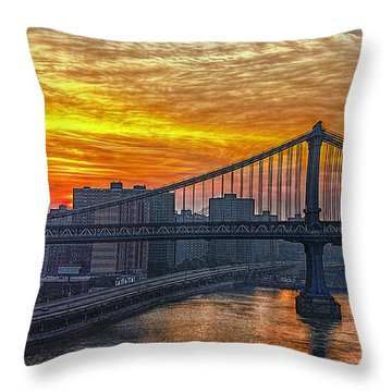 Good Morning New York Throw Pillow by Hanny Heim