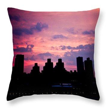 Good Morning New York Throw Pillow by Sara Frank