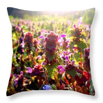 Good Morning Throw Pillow by Nina Ficur Feenan