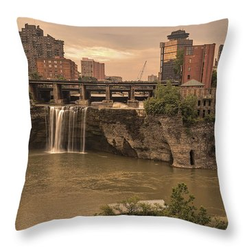 Good Morning Rochester Throw Pillow