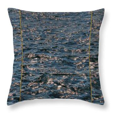 Good Morning Sea Throw Pillow by Jasna Buncic