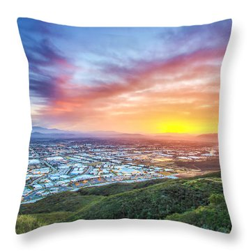 Good Morning Temecula Throw Pillow