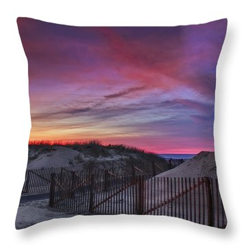 Good Night Cape Cod Throw Pillow by Susan Candelario