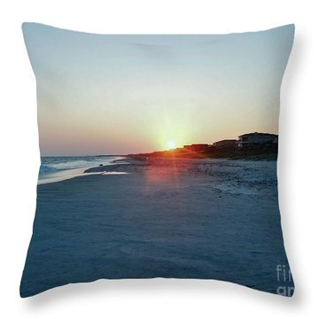 Throw Pillow featuring the photograph Good Night Day by Roberta Byram