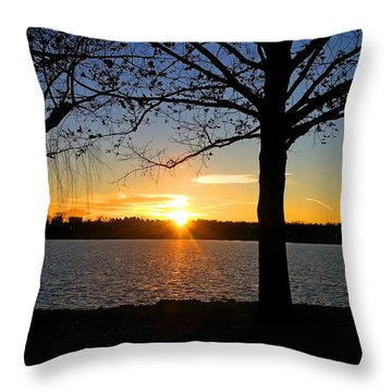 Good Night Potomac River Throw Pillow