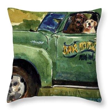 Good Ole Boys Throw Pillow by Molly Poole