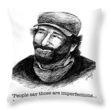Good Will Robin Quote Throw Pillow