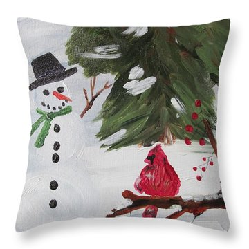 Good Tidings Throw Pillow