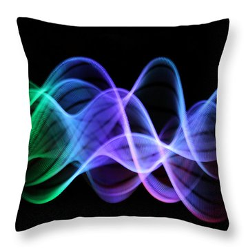 Good Vibrations Throw Pillow by Dazzle Zazz