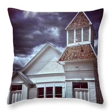 Good Vs Evil Throw Pillow by Ellen Heaverlo