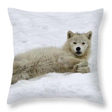 Good Wolfie ... Throw Pillow
