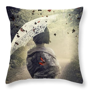 Goodbye Summer Throw Pillow by Svetlana Sewell