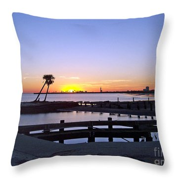 Throw Pillow featuring the photograph Goodbye Sun by Roberta Byram
