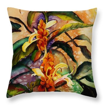 Goodbye To Summer Throw Pillow by Lil Taylor