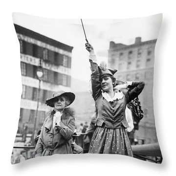 Goodbye To The Troops Throw Pillow
