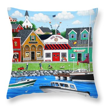 Goodies By The Sea Throw Pillow