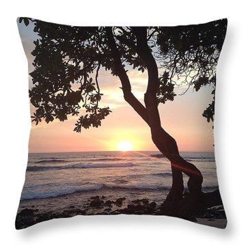Goodnight From Hawaii Throw Pillow