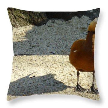 Goose Throw Pillow by Eva Csilla Horvath