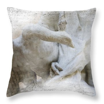 Goose With Master Throw Pillow