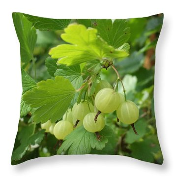 Gooseberries Throw Pillow