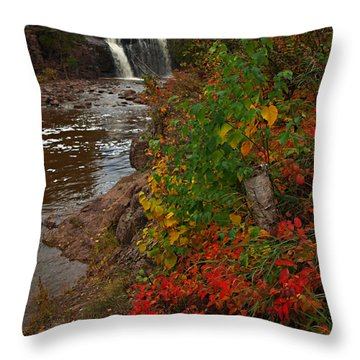 Gooseberry Foilage Throw Pillow by James Peterson