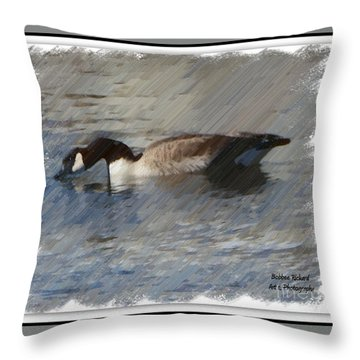 Goosey Lucy Painting Throw Pillow